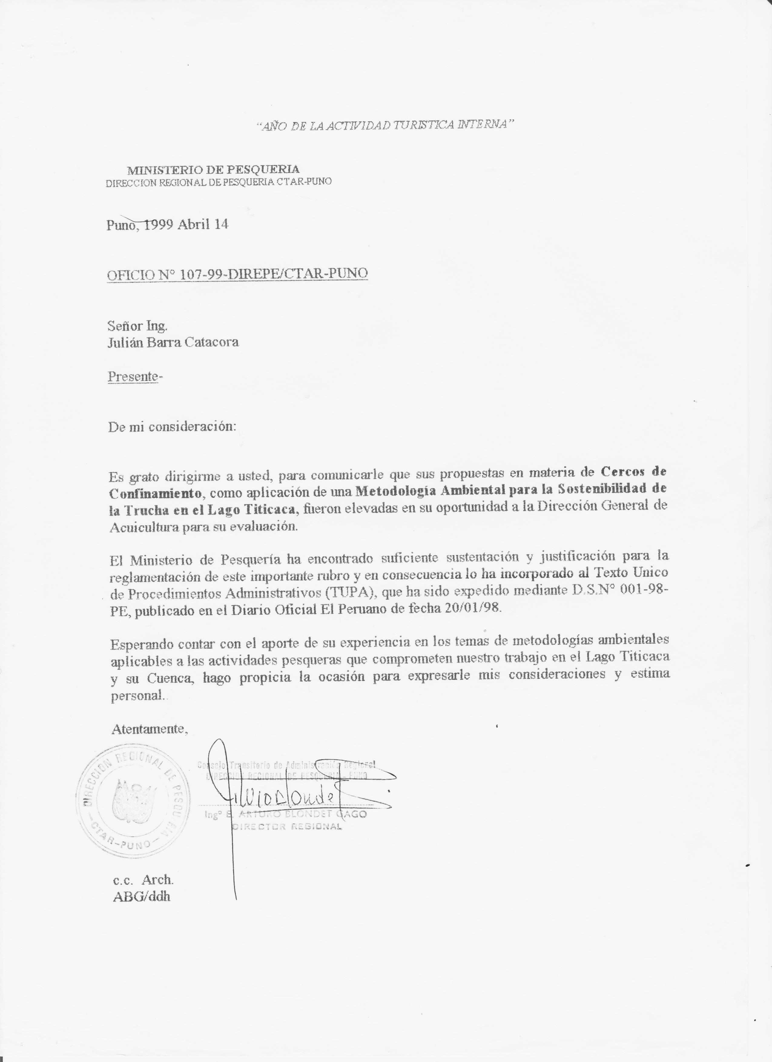Curriculum - Ing. Julián Barra Catacora